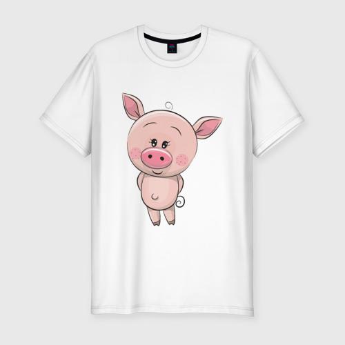 Мужская футболка хлопок Slim Поросёнок