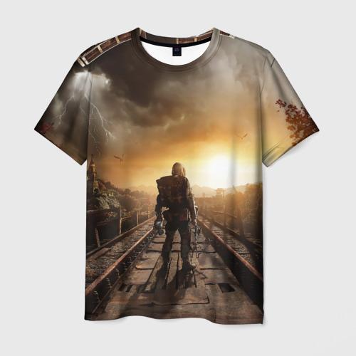 Мужская футболка 3D Metro 2033 постапокалипсис
