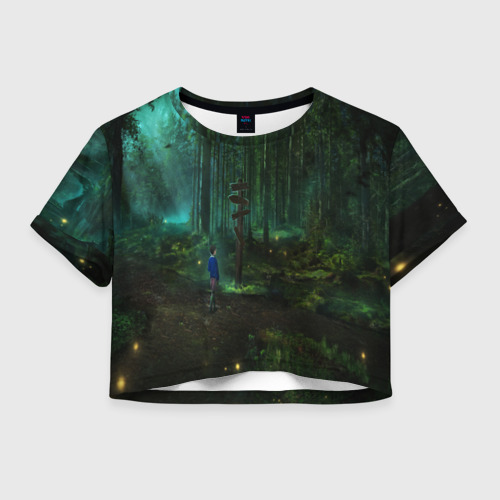 Женская футболка Crop-top 3D Очень странные дела