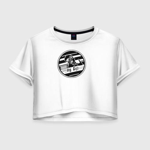 Женская футболка Crop-top 3D Элджей