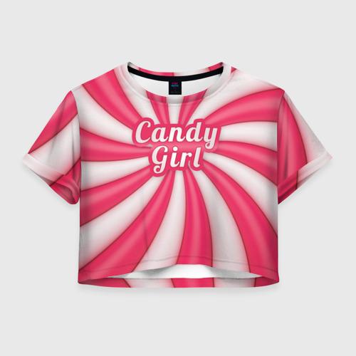 Женская футболка Crop-top 3D Candy Girl