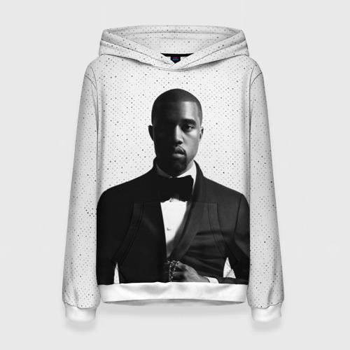 Женская толстовка 3D Kanye West Halftone