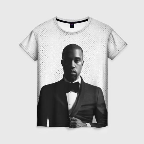 Женская футболка 3D Kanye West Halftone