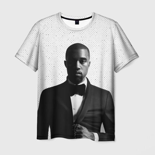 Мужская футболка 3D Kanye West Halftone