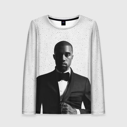 Женский лонгслив 3D Kanye West Halftone
