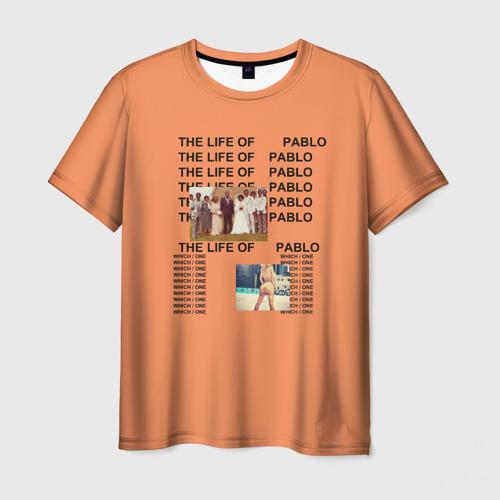 Мужская футболка 3D Kanye West PABLO