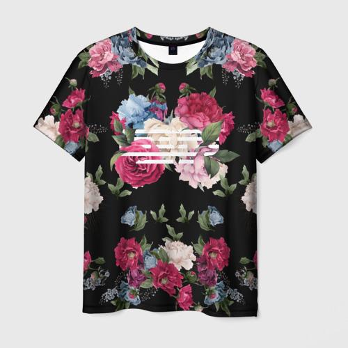 Мужская футболка 3D Flower Road