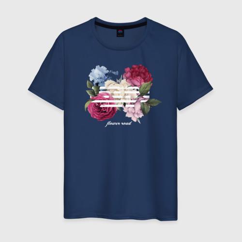 Мужская футболка хлопок Flower road