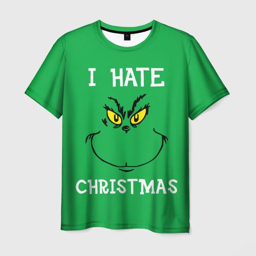Мужская футболка 3D I hate christmas