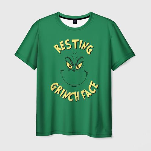 Мужская футболка 3D Resting Grinch Face