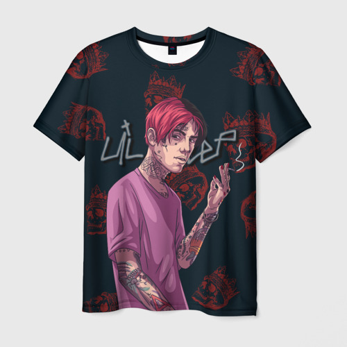 Мужская футболка 3D Лил Пип