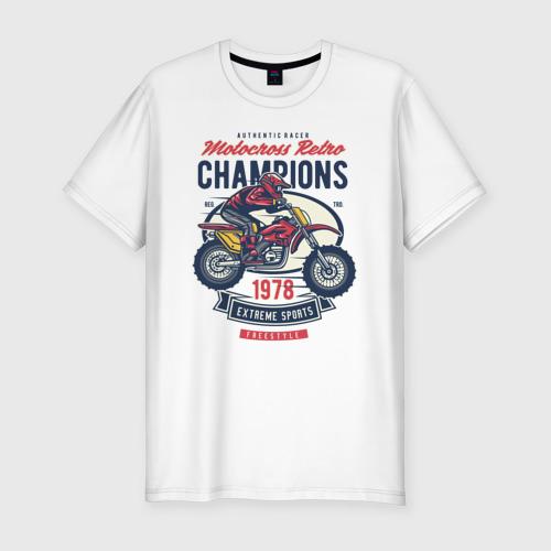 Мужская футболка хлопок Slim Мотоцикл