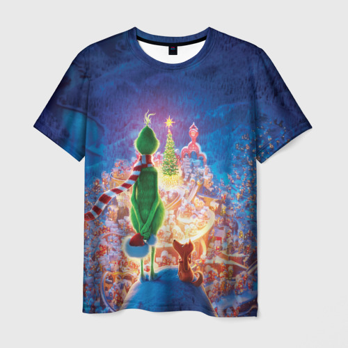 Мужская футболка 3D Dr. Seuss' The Grinch