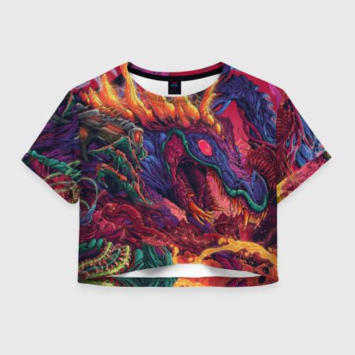 Женская футболка Crop-top 3D HyperBEAST