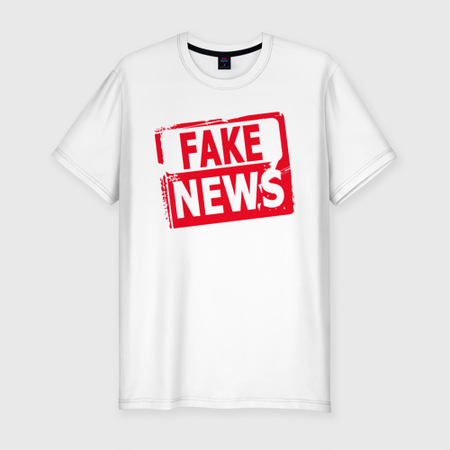 Мужская футболка хлопок Slim  Fake News