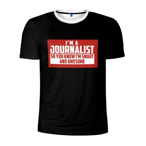 Мужская футболка 3D спортивная Iam Journalist