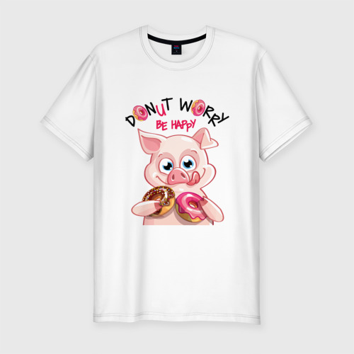 Мужская футболка хлопок Slim Donut Worry