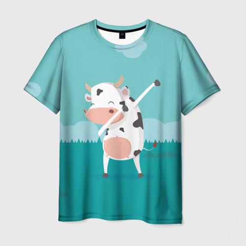 Мужская футболка 3D DAB Корова