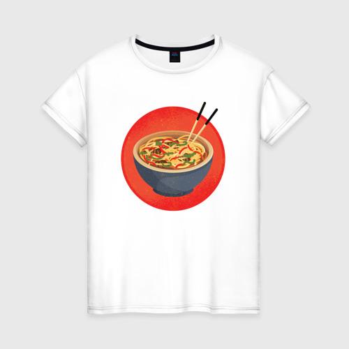 Женская футболка хлопок Суп Фо