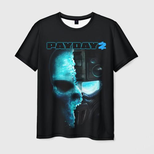 Мужская футболка 3D Payday 2