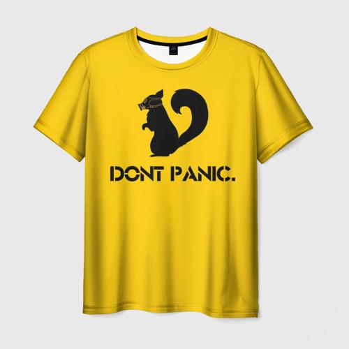Мужская футболка 3D Dont Panic.