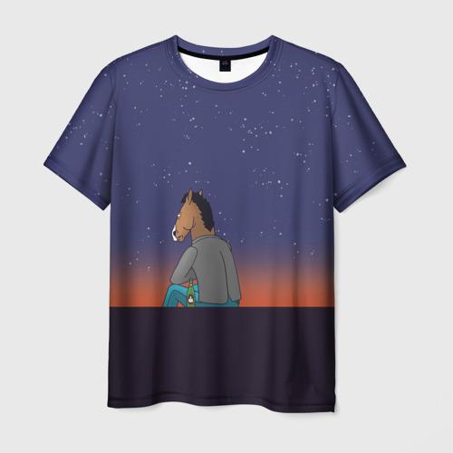 Мужская футболка 3D Конь Бо Джек