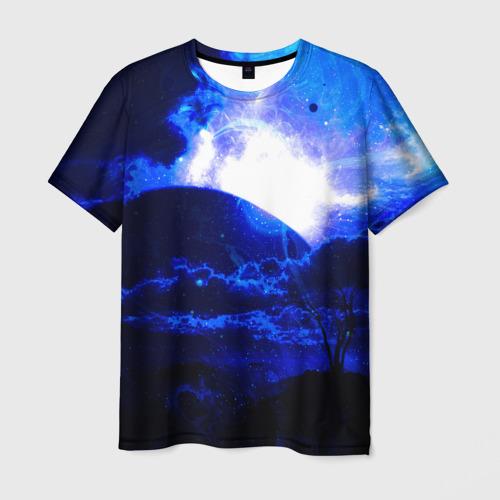 Мужская футболка 3D Космический закат