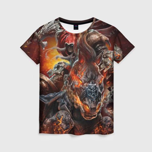 Женская футболка 3D Демон-Всадник (Darksiders)