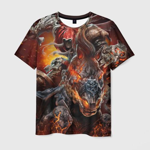 Мужская футболка 3D Демон-Всадник (Darksiders)