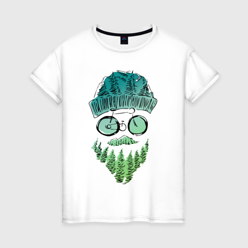 Женская футболка хлопок Mountain man