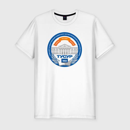 Мужская футболка хлопок Slim ТУСУР