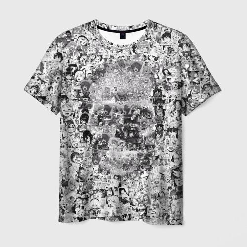 Мужская футболка 3D Череп из ахегао