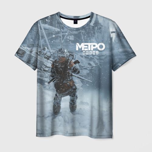Мужская футболка 3D Метро Исход