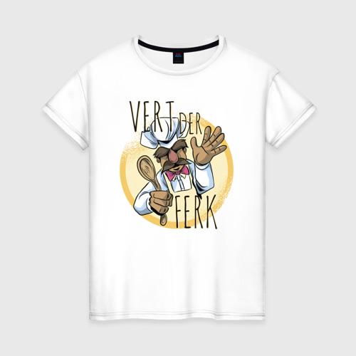 Женская футболка хлопок Vert Der Ferk