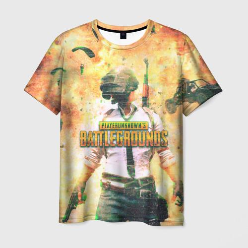 Мужская футболка 3D Playerunknown`s battlegrounds