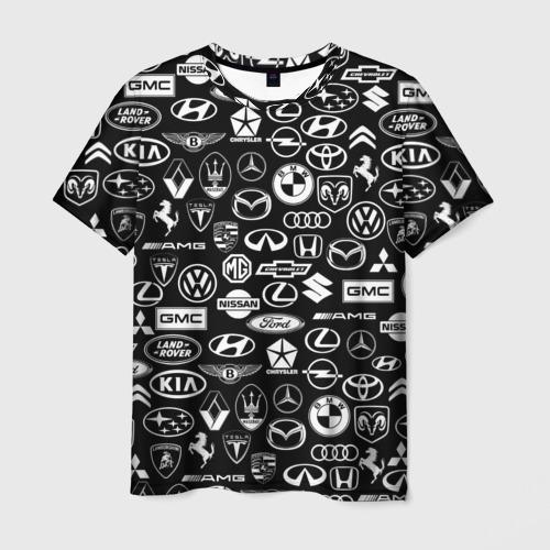 Мужская футболка 3D ЛОГО АВТОМОБИЛЬНЫХ БРЕНДОВ