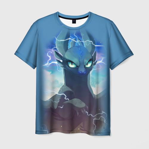 Мужская футболка 3D ночная фурия