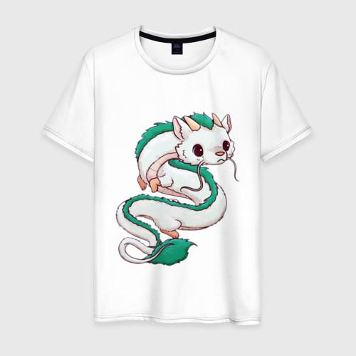 Мужская футболка хлопок Милашка дракон Хаку