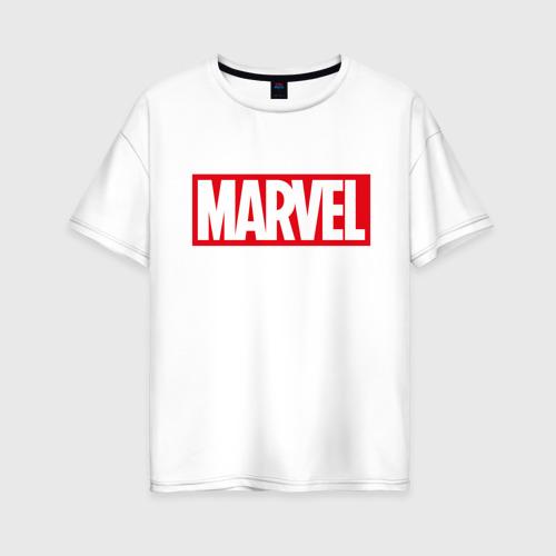 Женская футболка хлопок Oversize MARVEL