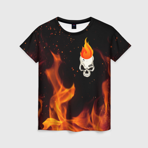 Женская футболка 3D MORGENSHTERN Fire
