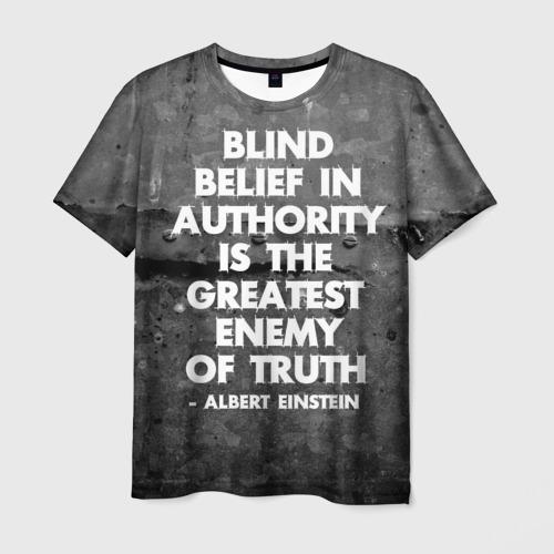 Мужская футболка 3D Альберт Эйнштейн Цитата