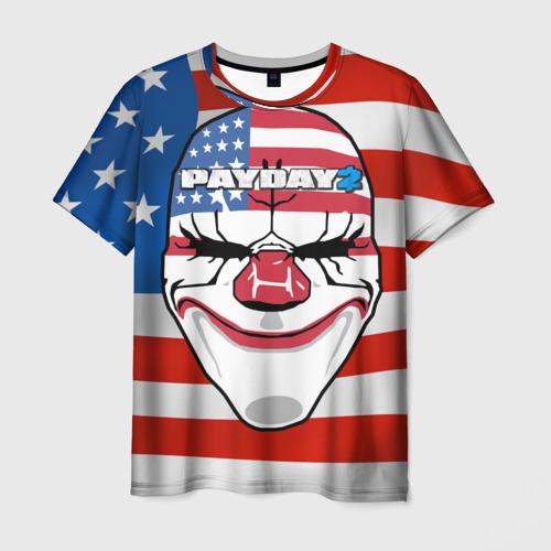 Мужская футболка 3D PayDay2