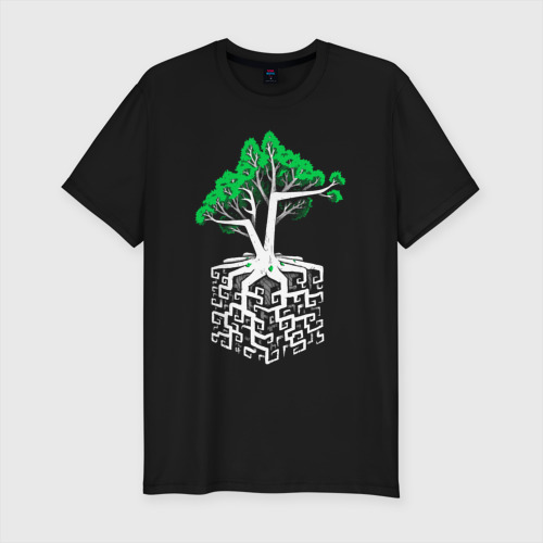 Мужская футболка хлопок Slim Квадратный корень