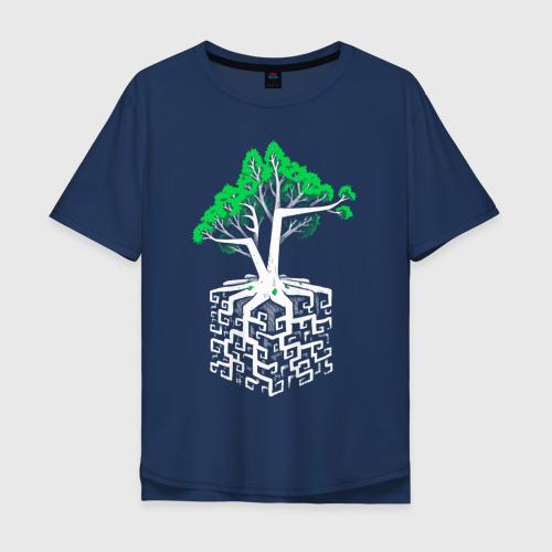 Мужская футболка хлопок Oversize Квадратный корень