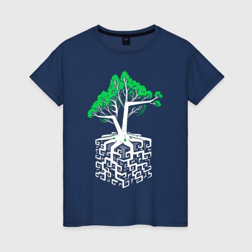 Женская футболка хлопок Квадратный корень