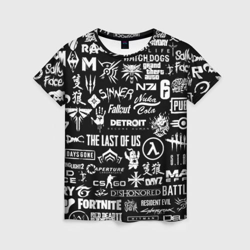 Женская футболка 3D ЛОГОТИПЫ ИГР