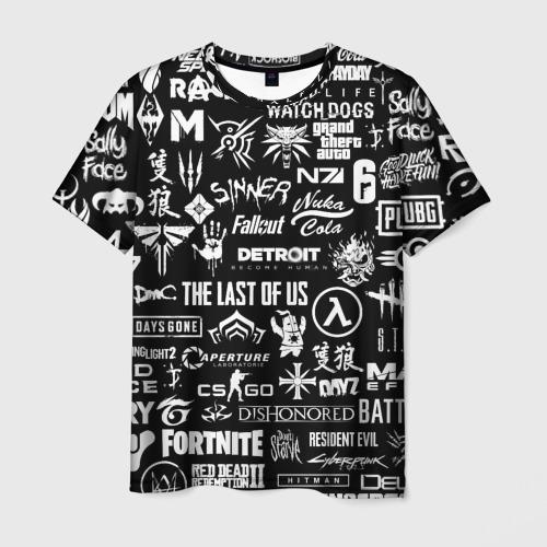 Мужская футболка 3D ЛОГОТИПЫ ИГР