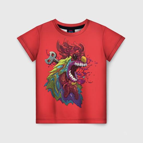 Детская футболка 3D Заводной петушок