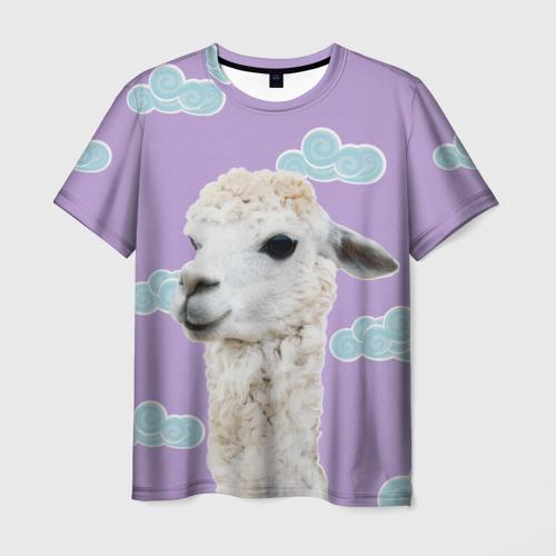 Мужская футболка 3D Облачная лама
