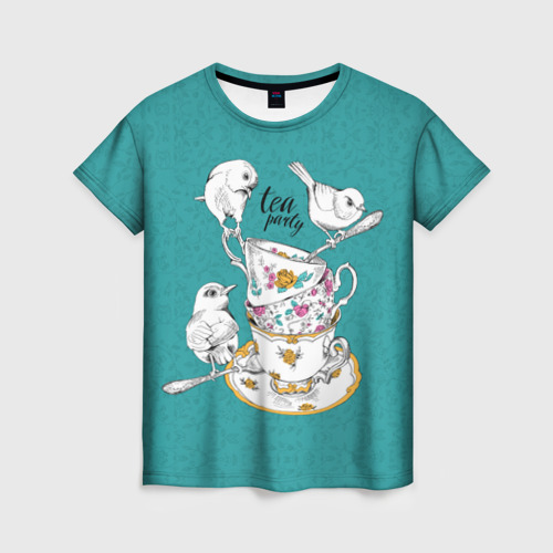 Женская футболка 3D Tea party